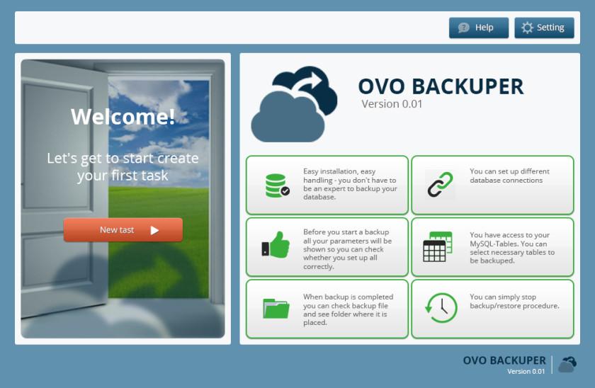 OVO Backuper Version 08  Welcome3